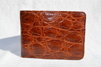 Men's 1950's-60's Cognac Brown Alligator Skin Wallet Billfold