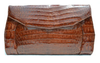 COGNAC 1950's-60's CROCODILE Belly Skin CLUTCH - ARGENTINA
