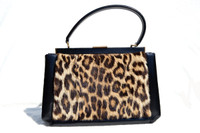 1950's-60's GENUINE EXOTIC FUR & Leather Handbag - SAKS FIFTH AVENUE