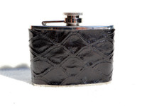 Custom Jet BLACK ANTEATER Skin 4 Oz. Stainless WHISKEY Flask - NEW!