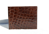 Men's 1990's Chocolate Brown Crocodile Belly Skin Wallet