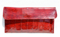 NEW 2010 RED Crocodile Skin Envelope Clutch Bag