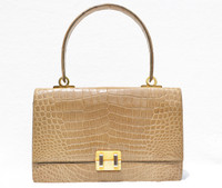 COBLENTZ 1960's Blonde TAN CROCODILE Porosus Belly Skin Handbag