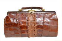 Lovely 1920's-30's EDWARDIAN Style Hornback ALLIGATOR TAIL Skin Purse