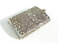 Custom MONITOR (Ring) Lizard Skin 8 Oz. Stainless Hip FLASK - NEW!