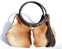 Large Capetown Early 2000's SPRINGBOK Fur Shoulder Bag Tote