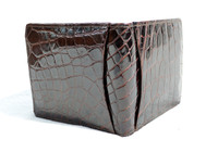 Men's 1960's Chocolate Brown Crocodile Belly Skin Wallet