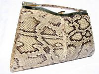CHRISTIAN DIOR? 1980's PYTHON Snakeskin CLUTCH Bag