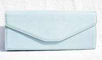 Baby BLUE 1980's-90's LAI Karung Snake Skin Clutch Shoulder Bag