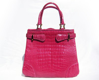 Stunning PINK GIORGIO'S Palm Beach  ALLIGATOR Belly Skin Handbag