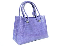Gorgeous Early 2000's Matte PURPLE ALLIGATOR Belly Skin Handbag