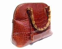 XL 15 x 10 Cognac GIORGIO'S Palm Beach ALLIGATOR Belly Skin Handbag Shoulder Bag