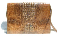 1960's HORNBACK CROCODILE Skin PORTFOLIO iPAD Case Shoulder Cross Body Bag