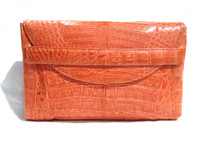 Early 2000's LIVING CORAL Belly Skin CLUTCH  Bag - Italy