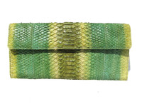 LAI 2000's Lime Green PYTHON Snake Skin Clutch Bag