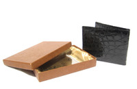 Men's 1960's JET BLACK ALLIGATOR Skin Wallet -  Original BOX!