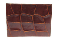 Large Men's 1960's Chocolate Brown Large-Scaled Alligator Belly Skin Wallet