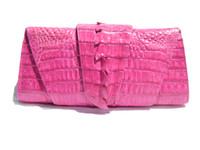 New! ROCKSTAR *HOT PINK* Hornback CROCODILE TAIL Wrap CLUTCH