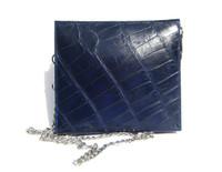 Mini BLUE 2000's Handmade MAXIMA Alligator Belly Skin CROSS Body Shoulder Bag