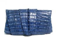 New! ROCKSTAR *NAVY BLUE* Hornback CROCODILE TAIL Wrap CLUTCH Bag