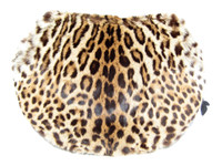 RARE XXL 1940's-50's Spotted Genuine Hide FUR Purse & Handwarmer