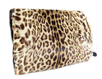 GIGANTIC 1930's-40's GENUINE OCELOT Exotic FUR Muff Purse