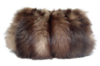 XL 1940's-50's Genuine Fox FUR Purse & Handwarmer