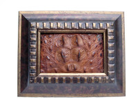 Custom FRAMED  10 x 8 Vintage Genuine ALLIGATOR Skin Upcycled ART - Home Decor