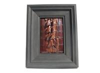 Custom FRAMED 8 x 10 Vintage Genuine ALLIGATOR TAIL Skin Upcycled ART - Home Decor