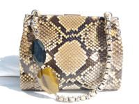 Early 2000's PYTHON Snake Skin Handbag - KOTUR
