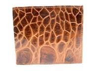 New! Men's 1970's COGNAC Brown Turtle Skin Wallet