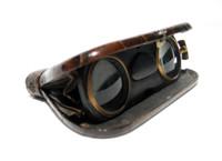 Antique La Mignonne Genuine ALLIGATOR Skin Incased Folding Patented Opera Glasses Binoculars