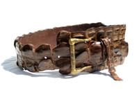 New 2000's Genuine Nile Crocodile Tail Hip Belt - ITALY