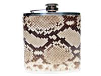 Custom PYTHON Skin 6 Oz. Stainless WHISKEY Flask - NEW!