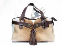 New! Ample Diane Gail SPRINGBOK Fur TOTE Shoulder Bag