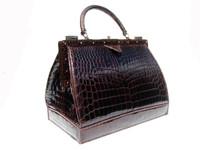 HUGE 1950's-60's LOUISE FONTAINE Crocodile POROSUS Bag - HERMES
