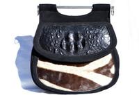 Custom 1960's Hornback CROCODILE & ZEBRA Fur Shoulder Bag