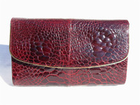 RUBY RED 1950's-60's TURTLE SKIN CLUTCH Bag - SANT'AGOSTINO