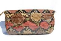 1980's Pastel PYTHON Snake Skin CLUTCH Shoulder Bag - Morris Moskowitz