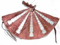 "PINK 1980's 16"" PYTHON Snake Skin Wristlet CLUTCH Bag - EDGY!"