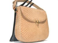 BUTTERSCOTCH 1960's MATTE-Finish Snake Skin Shoulder Bag - MANON
