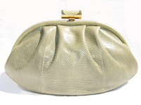 1970's SAGE Susan Gail KARUNG Snake Skin Clutch Shoulder Bag