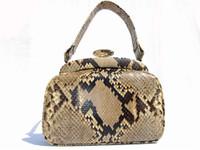 DECO Style 1950's-60's PYTHON Snake Skin Handbag
