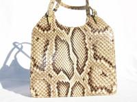 NICHOLAS REICH 1960's Python Snake Skin Handbag