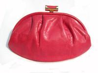 1970's HOT PINK Susan Gail KARUNG Snake Skin Clutch Bag
