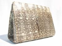 ANDREW GELLER 1950's-60's MONITOR Lizard Skin CLUTCH Shoulder Bag