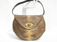 I LAMPERT 1950's-60's YELLOW Lizard Skin Handbag