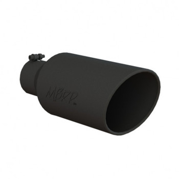 4in Inlet 7in Rolled End 18in Length Black Coated
