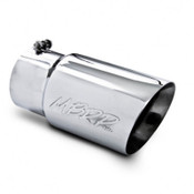 "MBRP 5"" INLET / 6"" OUTLET DUAL WALL ANGLE CUT STAINLESS EXHAUST TIP"
