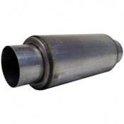 """Universal Stainless 4"""" Inlet / 4"""" Outlet Resonator 18"""" Length"""